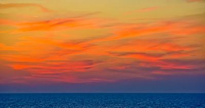 Mediterranean sunset.