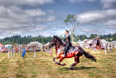 Actor at the Washington Renaissance Faire. HDR