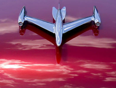 Hood ornament on a 1953 Oldsmobile Super 88.